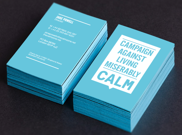 Calm business cards