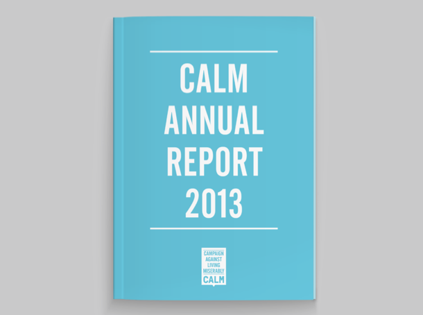 Calm annual report cover